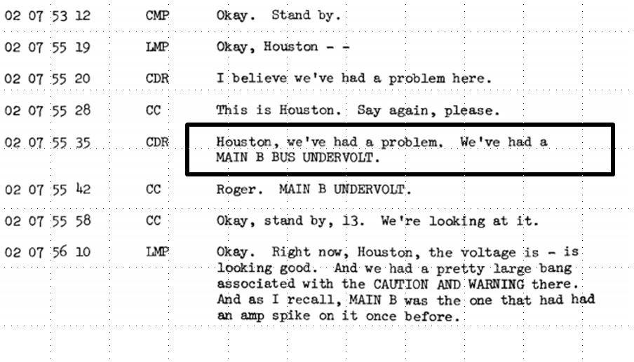 Apollo 13 transcript