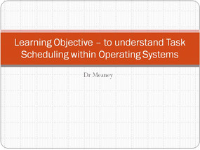 Operating System Task Scheduling Algorithms - what you need to know