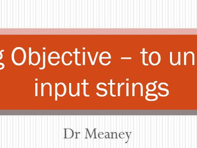 Simple String Processing in VB.NET - for Level 2 BTEC IT and Level 3 BTEC IT