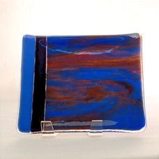 Blue Opal with Plum Streaks Small Tray