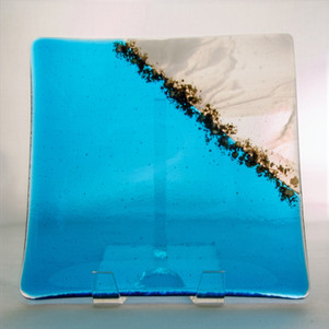 Turquoise and Cloud Plate