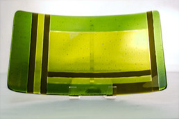 Transparent and Iridescent Green tray