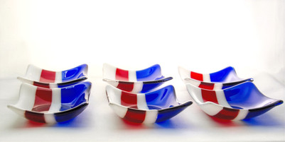 Red, White and Blue dishes