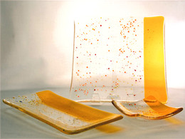 Yellow Confetti Glass set
