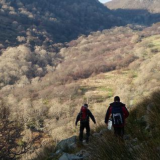 Group of kids walking the peaks of Derbyshire