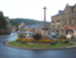Floral roundabout, Bakewell. Photo attributed to Roger Cornfoot