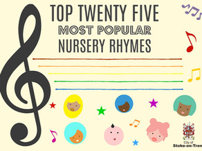 What are the 25 most popular nursery rhymes?