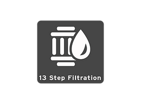 A thirteen step, five stage reverse osmosi drinking water system