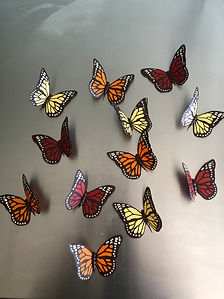 Hand Piped Butterflies