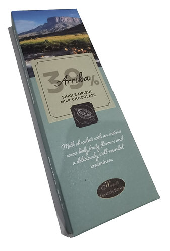 Arriba Single Origin 39% Milk Chocolate  100g