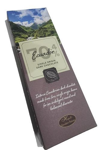 Ecuador Single Origin 70.4% Dark Chocolate 100g