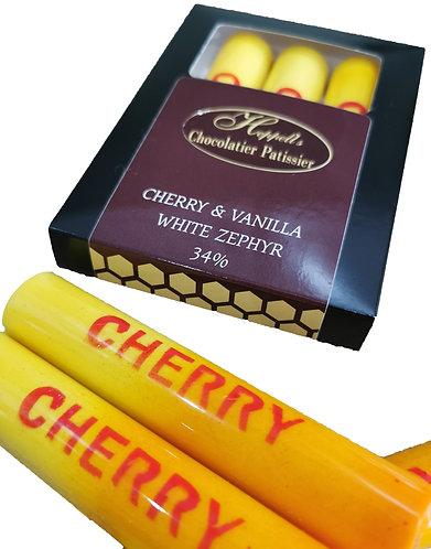Cherry & Vanilla White Zephyr 34% Snacking Bar