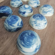 Blueberry Ganache in Belgian White Choco