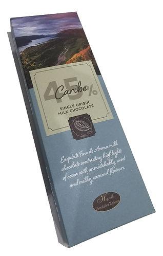Caribe Single Origin 45% Milk Chocolate 100g