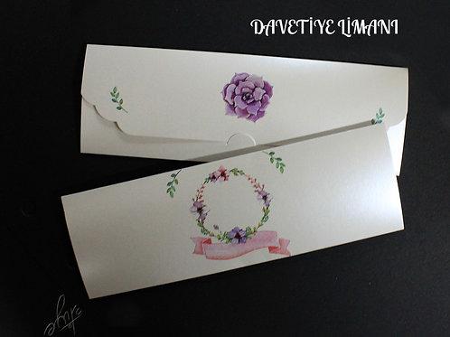 Premium Düğün Davetiye (Royal Purple) Zarfsız