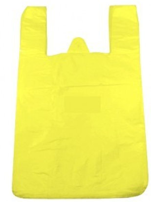 Taška HDPE 4kg, 100ks/blok, žlutá, PREMIUM