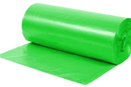 Pytle na tříděný odpad SKLO, zelené se zatahovací páskou 35L, 15ks/role