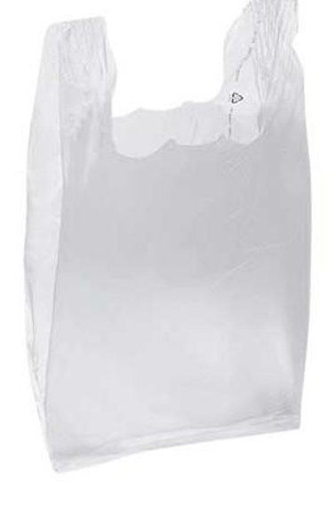 Taška HDPE 4kg, 100ks/blok, bílá, LOW
