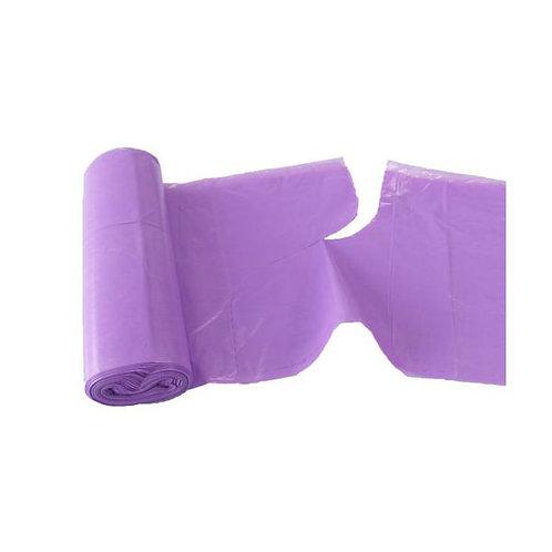 Pytle LDPE s uchy a vůní LEVANDULE 60L, 18ks/role, fialové