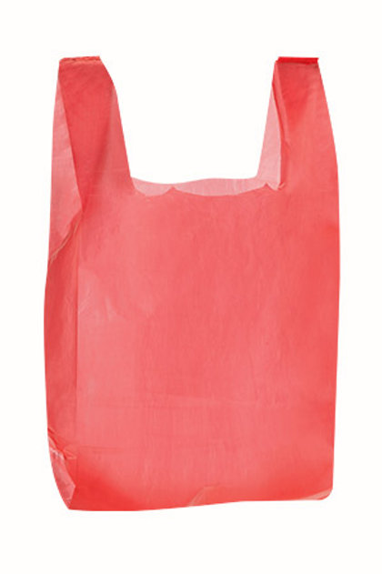 Taška HDPE 10kg, 100ks/blok, červená, PREMIUM