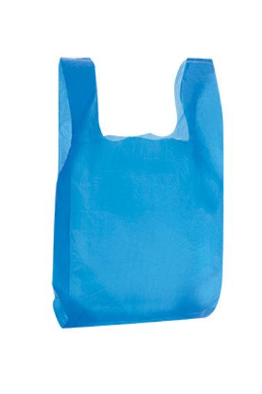 Taška HDPE 10kg, 100ks/blok, modrá, PREMIUM