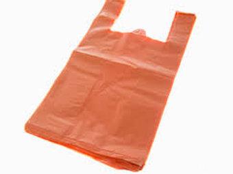 Taška HDPE 10kg, 100ks/blok, oranžová, PREMIUM