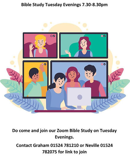 Zoom Bible Study Tuesday Evenings (Large
