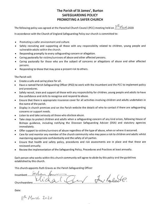 St James - Safeguarding Policy - Promoti