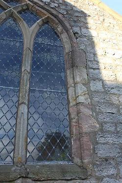 Vestry East Window Surround Open Joints