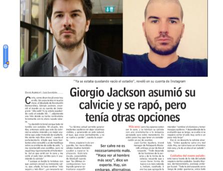 Entrevista sobre el new look de Giorgio Jackson para LUN