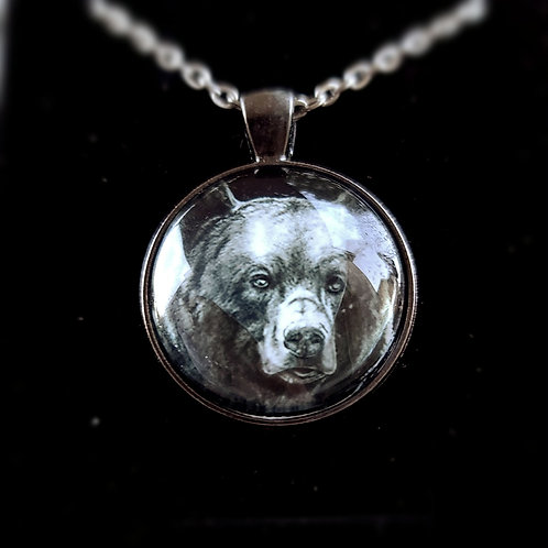 'Brown Bear' - Art Pendant Necklace