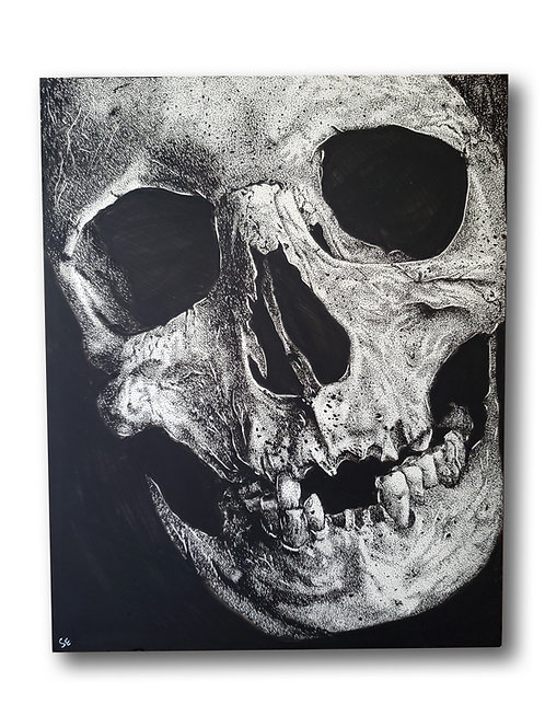 "'Skull No. 3' Original Drawing, 8"" x 10"""