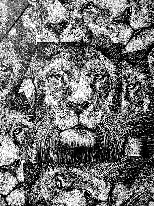 """""""Lion"""" Print"""