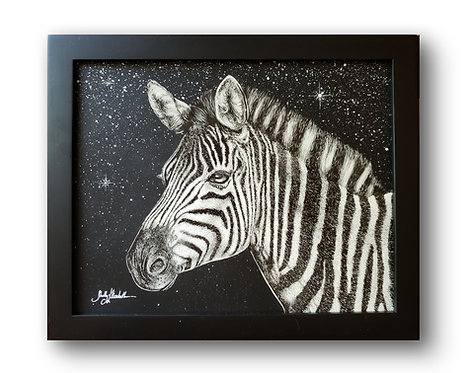 "'Zebra' Original Drawing, 10"" x 8"""