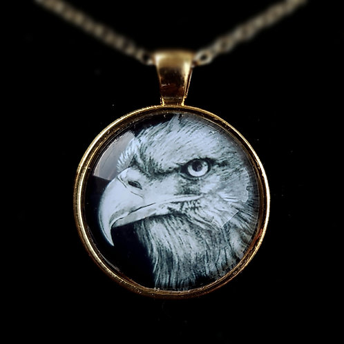'Bald Eagle' - Art Pendant Necklace