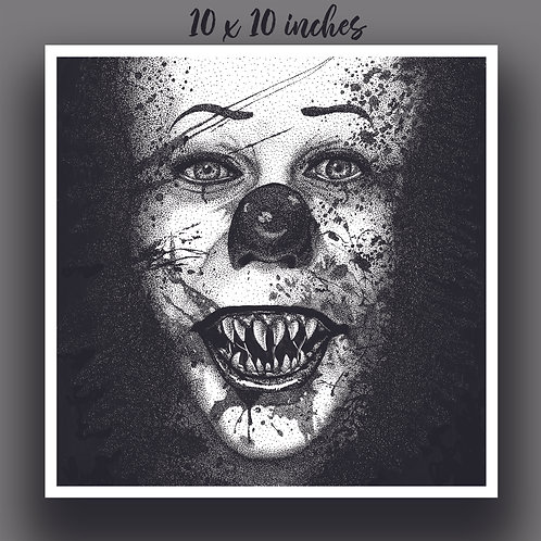 """""""Pennywise"""" Signed Print"""