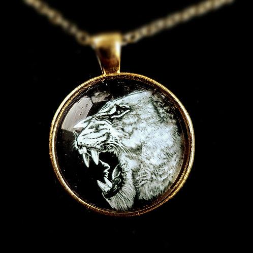 'Lioness' - Art Pendant Necklace