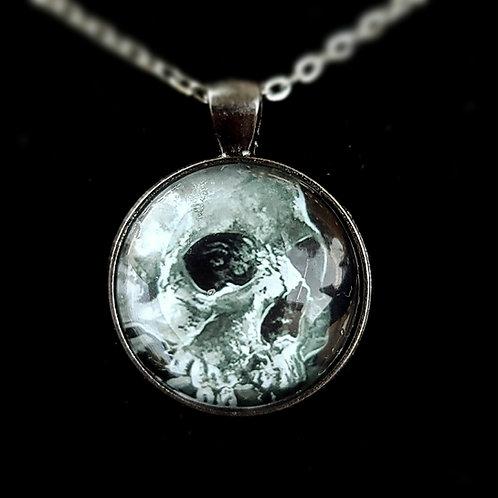 'Skull Still-Life' - Art Pendant Necklace