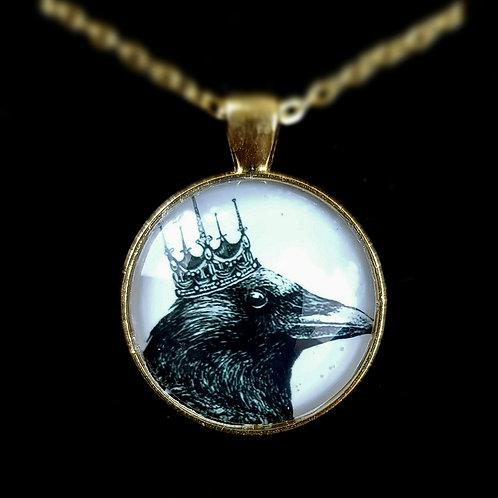 'King Crow' - Art Pendant Necklace
