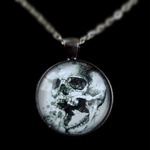 'Screaming Skull' - Art Pendant Necklace