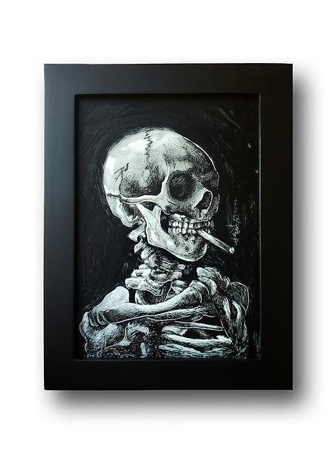 "'Van Gogh Reproduction' Original Drawing, 5"" x 7"""