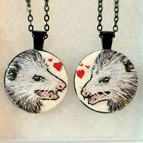 Love Possums - Embroidery Necklace Set