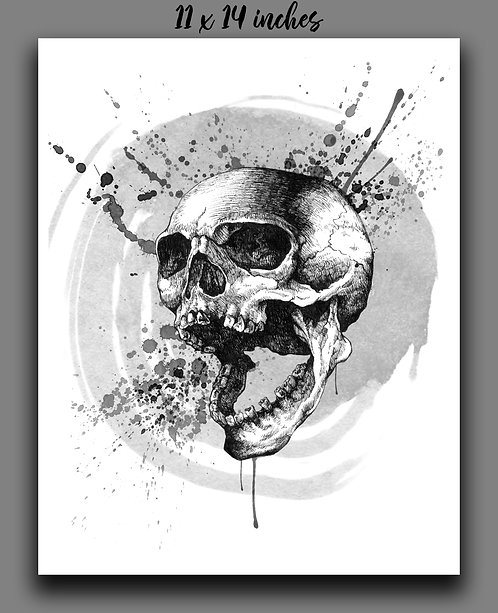 """Screaming Skull"" Print"