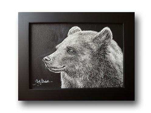 "'Bear Portrait' Original Drawing, 7"" x 5"""