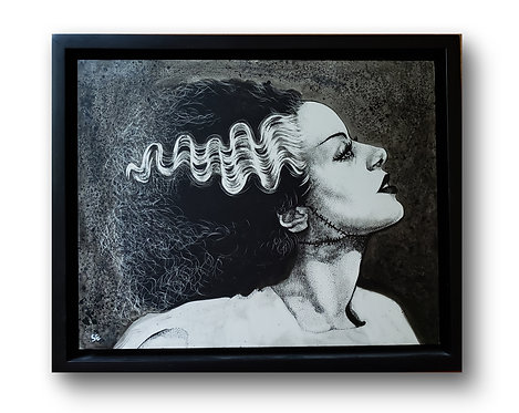 "'Bride of Frankenstein' Original Drawing, 8"" x 10"""