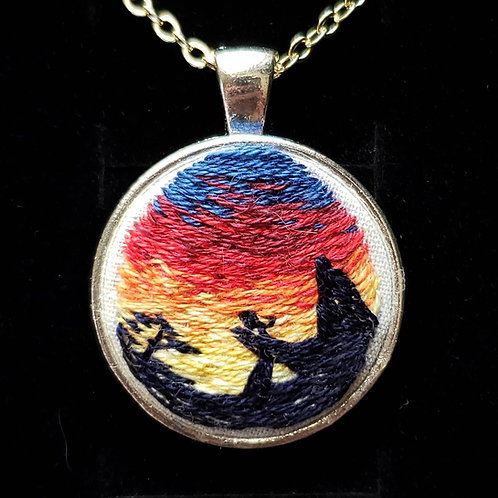 Pride Rock - Hand Embroidered Necklace