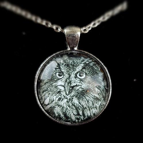 'Eagle Owl' - Art Pendant Necklace