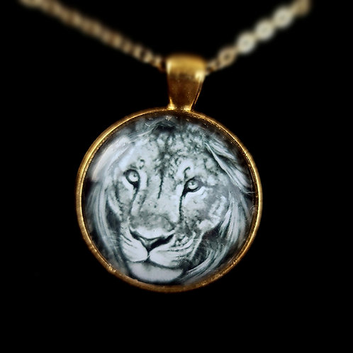 'Leo' - Art Pendant Necklace
