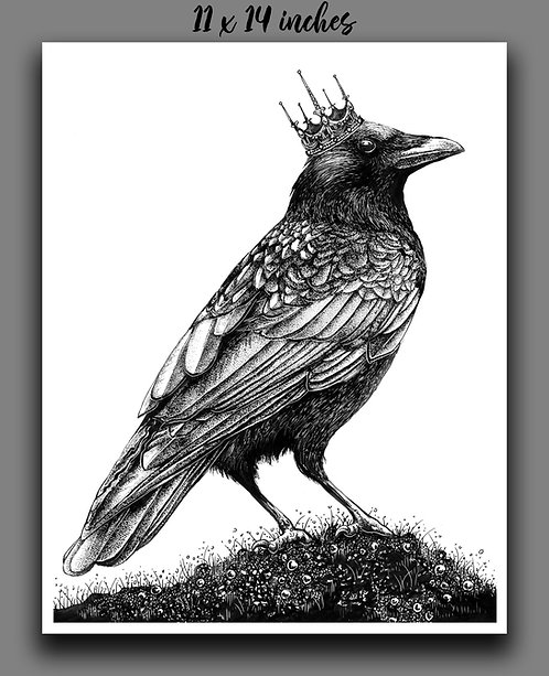 'King Crow' Signed Print