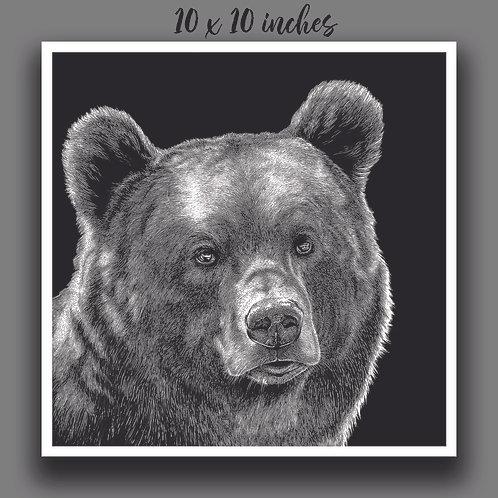 """Brown Bear"" Signed Print"